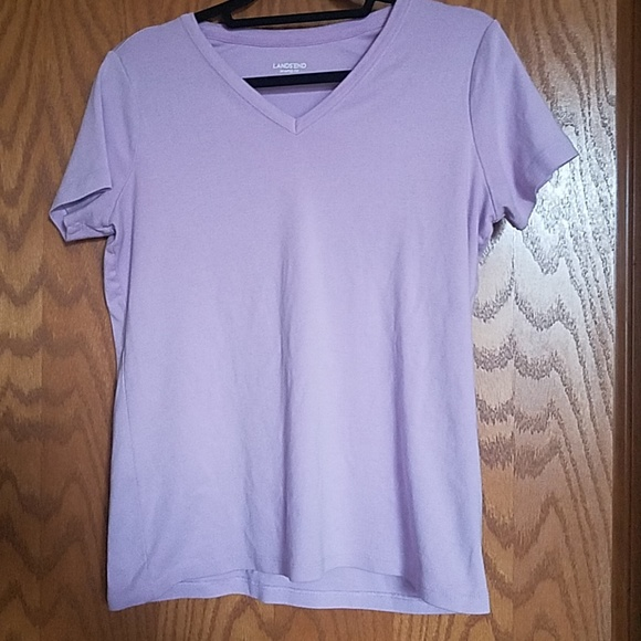 Lands' End Tops - Lavender V-neck shaped fit tshirt